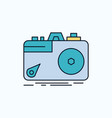 camera photography capture photo aperture flat vector image vector image