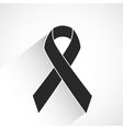 Cancer awareness ribbon vector image