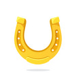 cartoon gold horseshoe for good luck vector image vector image