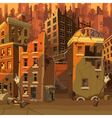 cartoon ruined city after the apocalypse vector image vector image
