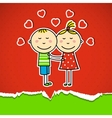 Children in love vector image