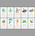 climbing and bungee jumping parkour webpages vector image vector image