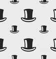 cylinder hat icon sign Seamless pattern with vector image vector image
