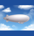 dirigible realistic background vector image
