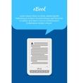 eBook or tablet concept Quote bubble A portable vector image