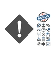 Error Flat Icon With Bonus vector image vector image