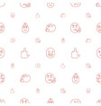 expression icons pattern seamless white background vector image vector image