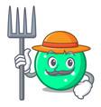 farmer circle character cartoon style vector image vector image