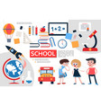 flat school infographic concept vector image vector image