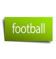 football green paper sign isolated on white vector image vector image