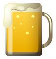 fresh beer in glass vector image