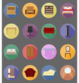 furniture flat icons 39 vector image