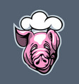 good cook pig cartoon style vector image vector image