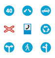 guide mark icons set flat style vector image vector image
