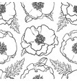 hand drawn poppy seamless pattern vector image