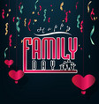 happy family day vector image vector image