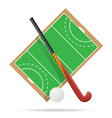 hockey on the field vector image vector image