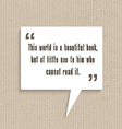 inspirational quote in speech bubble 2803 vector image vector image