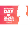 international day older persons october 1 vector image vector image