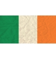 Ireland paper flag vector image