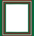 italian flag symbol border vector image vector image