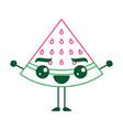 kawaii cartoon watermelon fruit funny character vector image vector image