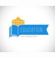 library logo bookmark vector image vector image