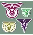 Military style logo set vector image vector image
