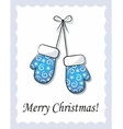 mittens hanging vector image vector image