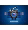 Online movie theater cinema vector image