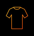 orange t-shirt icon outline tshirt sign vector image vector image