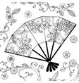 Oriental fan zentagle vector image vector image