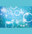 oxygen bubbles in water blue background for vector image