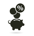 percent saving piggy bank vector image