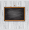 picture frame on wooden wall vector image vector image