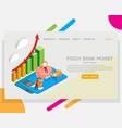 piggy bank money website landing page vector image vector image