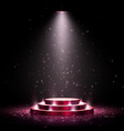 podium with lighting scene with for award vector image vector image