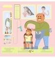 Professional bald-headed hairdresser vector image vector image