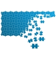 Puzzle with combining elements vector image vector image