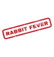 Rabbit Fever Rubber Stamp vector image vector image