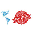 real estate composition of mosaic map of south and vector image