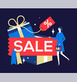sale concept - flat design style colorful vector image vector image