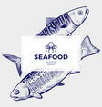 seafood restaurant or cafe banner template vector image vector image