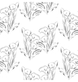 Seamless pattern black and white callas flowers vector image