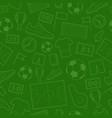 seamless pattern of football symbols vector image