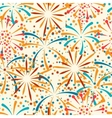 Seamless pattern with abstract fireworks and