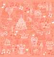 seamless pattern with linear icons for vector image