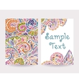 Set of Decorative Cards 2 vector image