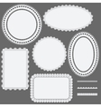 Set of lace frames napkins and ribbons vector image vector image