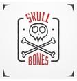 Skull bones logo vector image